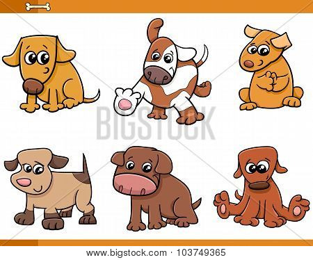 Dog Characters Cartoon Set