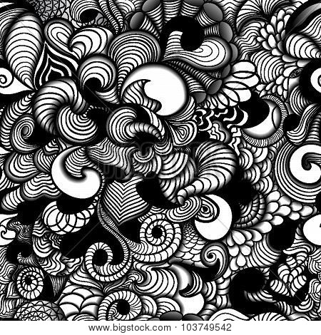 Background  in style zentangle (ethnic, doodle).
