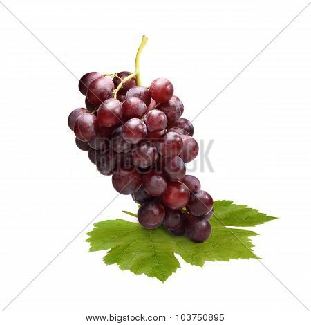 Red Grape Isolated On White Background (fruit)