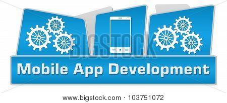 Mobile App Development Squares On Top