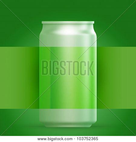 Metal Aluminum Beverage Drink And Label.
