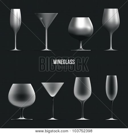 Template of wineglass for liquid.
