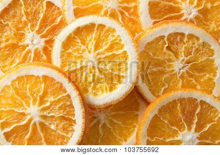 dry slices of orange