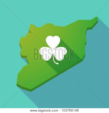 Long Shadow Syria Map With A Clover