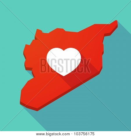 Long Shadow Syria Map With A Heart
