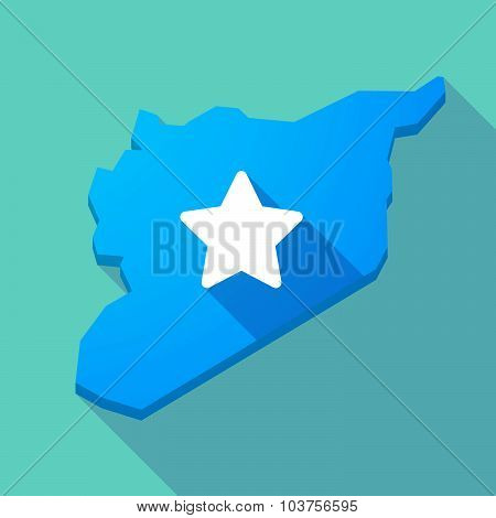 Long Shadow Syria Map With A Star