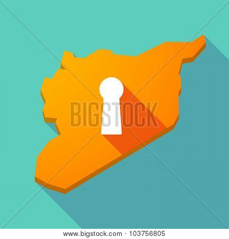Long Shadow Syria Map With A Key Hole