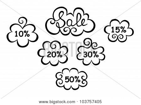 Text Sale In Decorative Elements