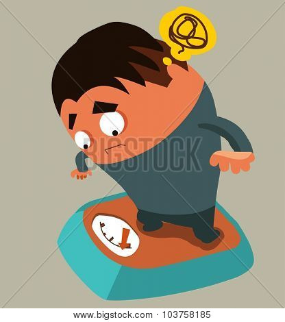 Diet weight control. Vector illustration Flat