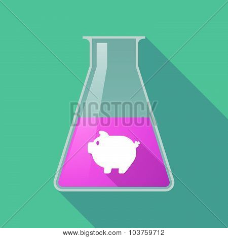 Long Shadow Chemical Test Tube Flask With A Pig
