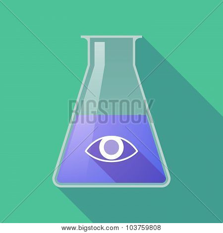 Long Shadow Chemical Test Tube Flask With An Eye