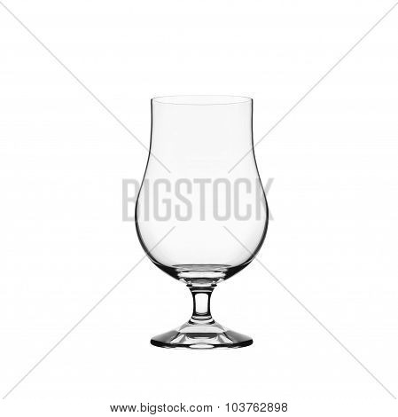 Empty cocktail glass isolated on white