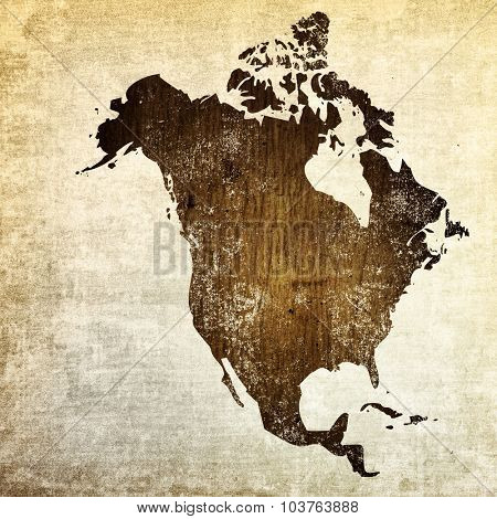 aged America map vintage artwork for your design