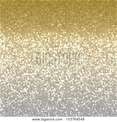 Christmas background of gold glitter effect