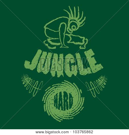 Ragga Jungle T-shirt Music Illustration