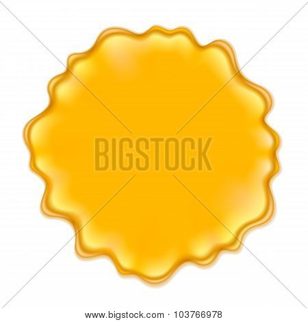 Yellow blotch isolated on white background.