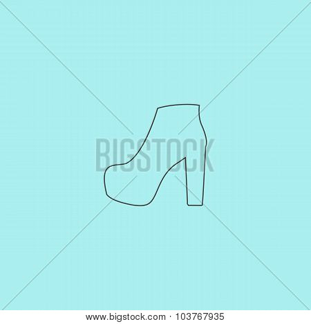 Womens shoes icon, vector illustration.