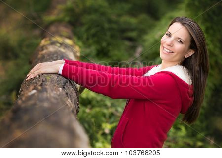 Pretty woman in the bush