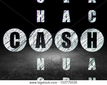 Money concept: Cash in Crossword Puzzle