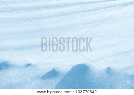 Background from snow with shadows