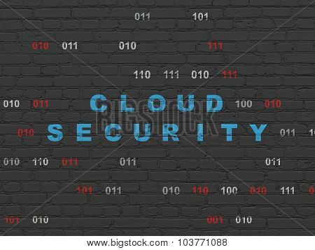 Security concept: Cloud Security on wall background