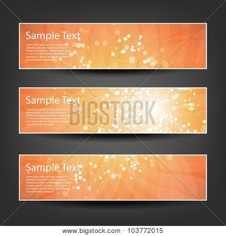 Set of Horizontal Christmas, New Year or Other Holidays, Party Banner / Cover Background Designs