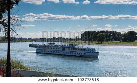 Passenger Ship On The River Rhine