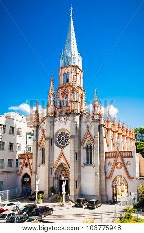 RIO DE JANEIRO - APRIL 28, 2015: Basilica Imaculada Conceicao on April 28, 2015,  Rio de Janeiro ,State of Rio de Janeiro ,Brazil.