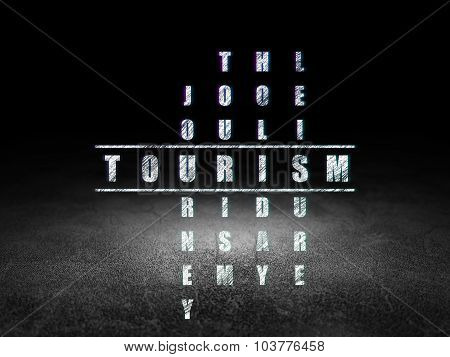Tourism concept: Tourism in Crossword Puzzle