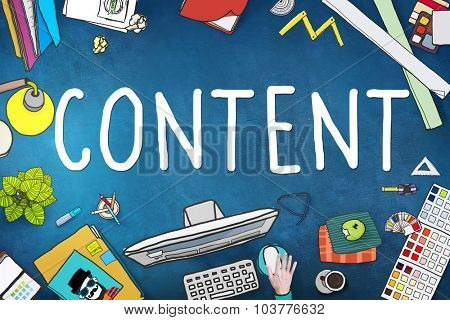 Content Social Media Networking Connection Concept