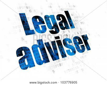 Law concept: Legal Adviser on Digital background