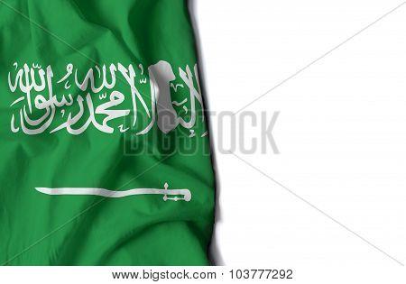 Waving Flag Of Saudi Arabia, Middle East