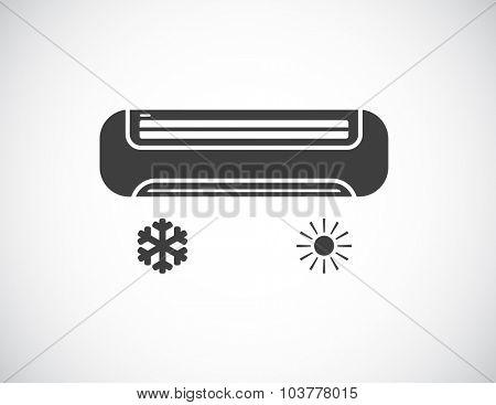 air conditioner black icon