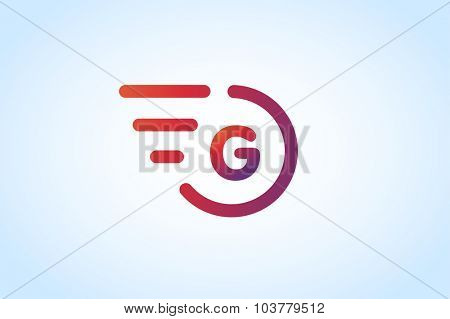 Fast line G letter logo monogram. G and lines monogram. Vector G line letter. G letter design. Abstract g letter. Motion lines g line symbol. Thin line style. Transport delivery G motion icon