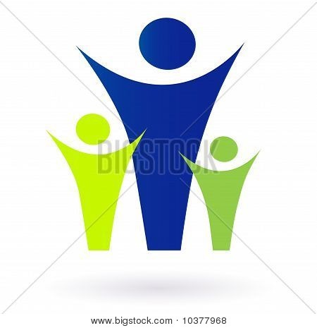 Family and community pictogram - adult and kids