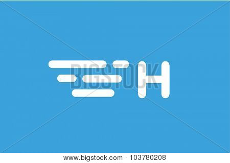Fast line A letter logo monogram. A and lines monogram. Vector A line letter. A letter design. Abstract A letter. Motion lines. A line symbol. Thin line style. Transport delivery A motion icon