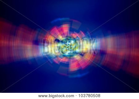 Abstract digital lights background, beautiful colorful sparkle on dark blue background, modern creative art, new year holiday concept