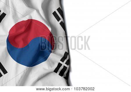 Waving Flag Of South Korea, Asian