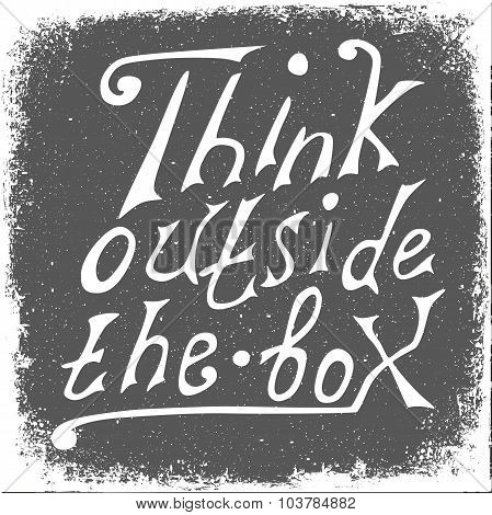 Think Outside The Box - Design Element.