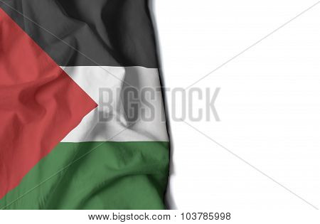 Waving Flag Of Palestine, Middle East