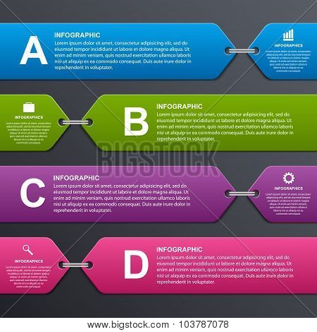Abstract Colorful Infographic Options Banner. Design Elements.