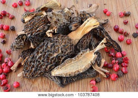Dry Morels In A Kitchen