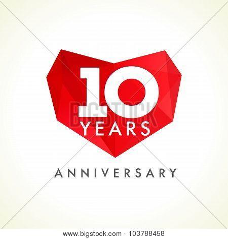 10 anniversary heart logo