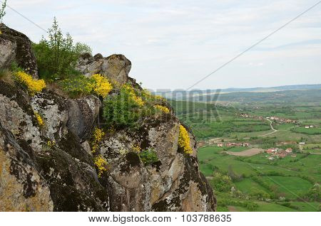 Volcanic Rocks Above Village