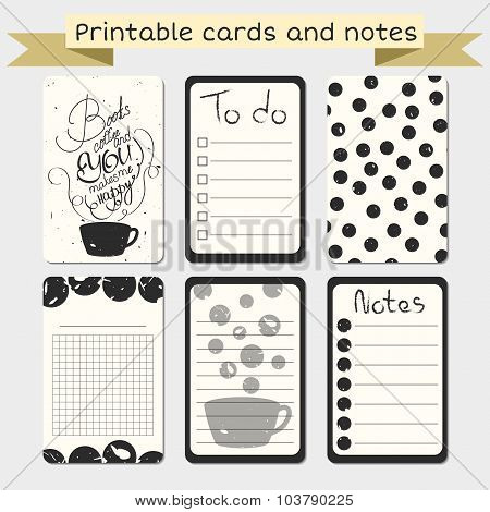 Printable Journal Cards. Stylish To Do List.