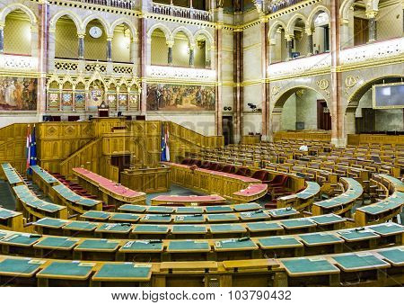 Inside Hungarian Parliament In Budapest