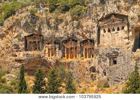 Lycian Tombs at Dalyan, Turkey
