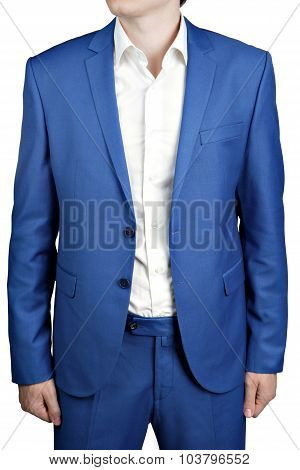 Undone Two-button Men Dress Bridegroom Or Prom, Light Blue Color.