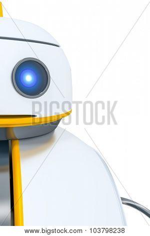 A sweet little robot head detail background