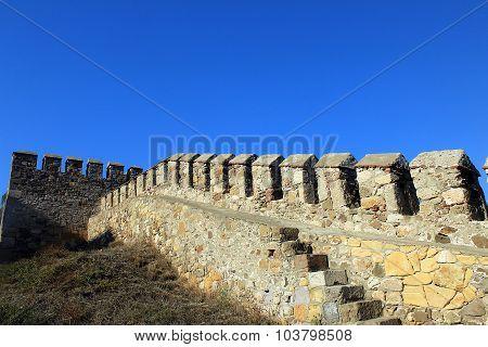 Walls of Bozcaada Castle Tenedos Castle